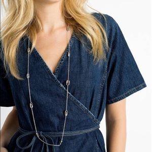 NWOT Kendra Scott Kellie necklace, blue lace agate